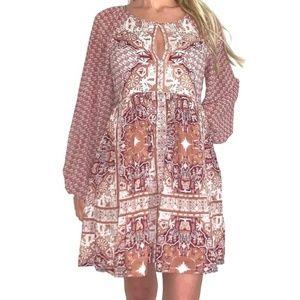 Free People Oksana Long Sleeve Mini Dress